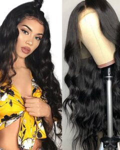 22 Inch Body Wave Human Hair Wigs Lace Front Wigs Swiss Lace 10A Virgin Human Hair With Baby Hair