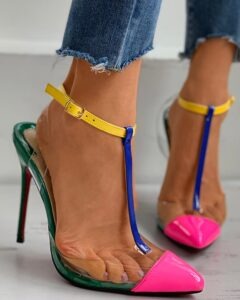 Clear Perspex Pointed Toe Stiletto Heel